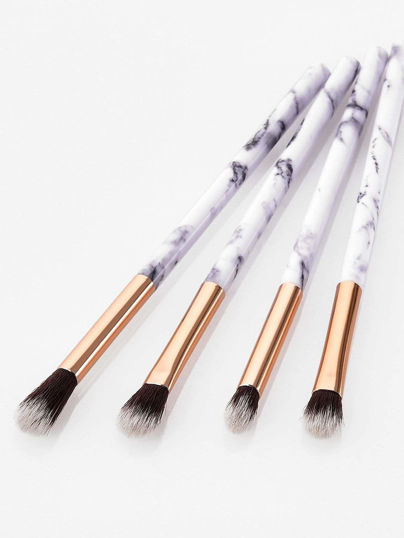 Marble Handle Makeup Brush 4Pcs - Makeup Brushes