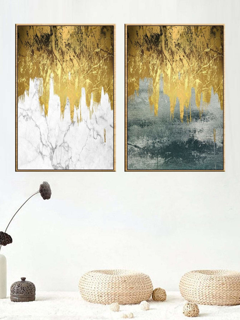 Marble Pattern Wall Art 2Pcs - Wall Art