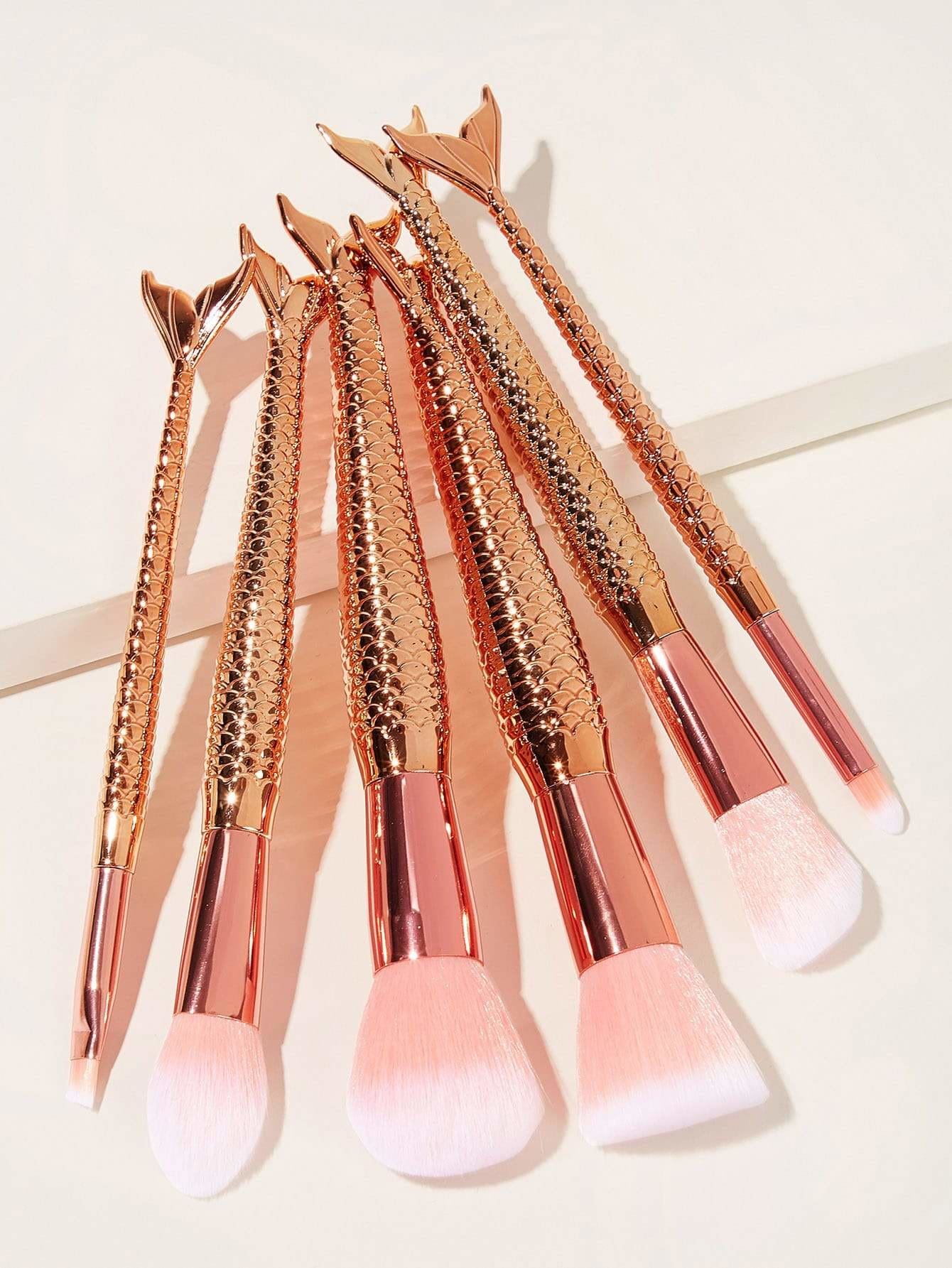 Mermaid Handle Makeup Brush 6pcs - Makeup Brushes