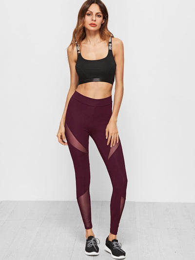 Mesh Insert Leggings - Fittness Leggings
