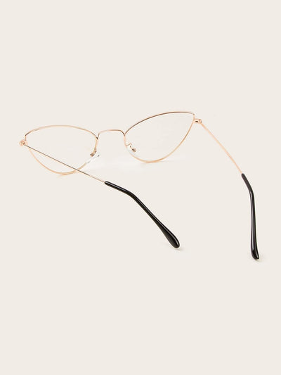 Metal Frame Cat Eye Sunglasses - Sunglasses