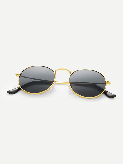 Metal Frame Sunglasses - Sunglasses