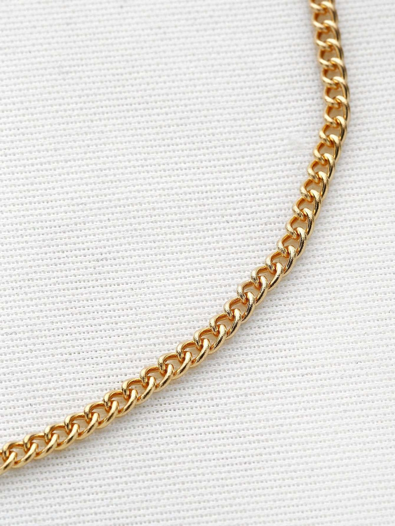 Metal Minimalist Chain Choker - Necklaces