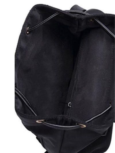 Metal Ring Detail Zipper Backpack - Womens Bag