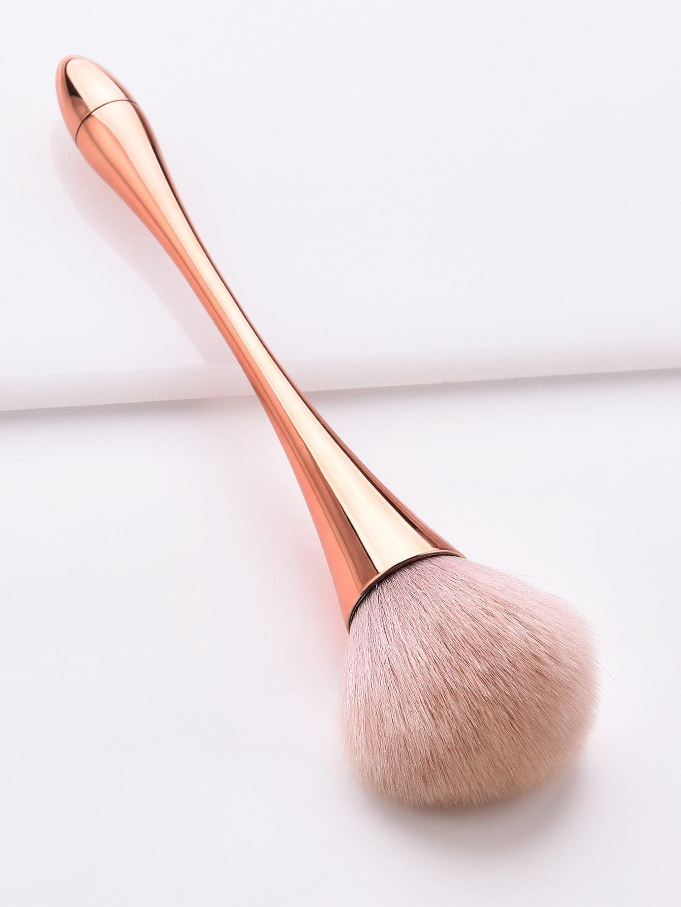 Metallic Handle Powder Brush 1pc - Makeup Brushes