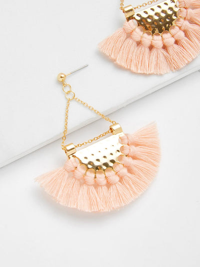 Mini Tassel Drop Earrings - Earrings