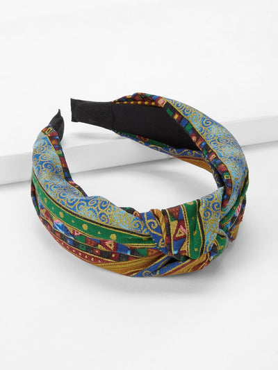 Mixed Pattern Knot Headband - Hair Accessories
