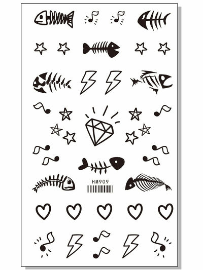 Mixed Pattern Tattoo Stickers One Sheet - Beauty Tools