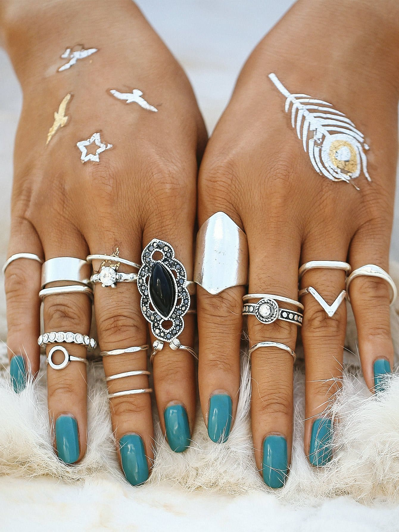 Mixed Shaped Ring Set - Rings
