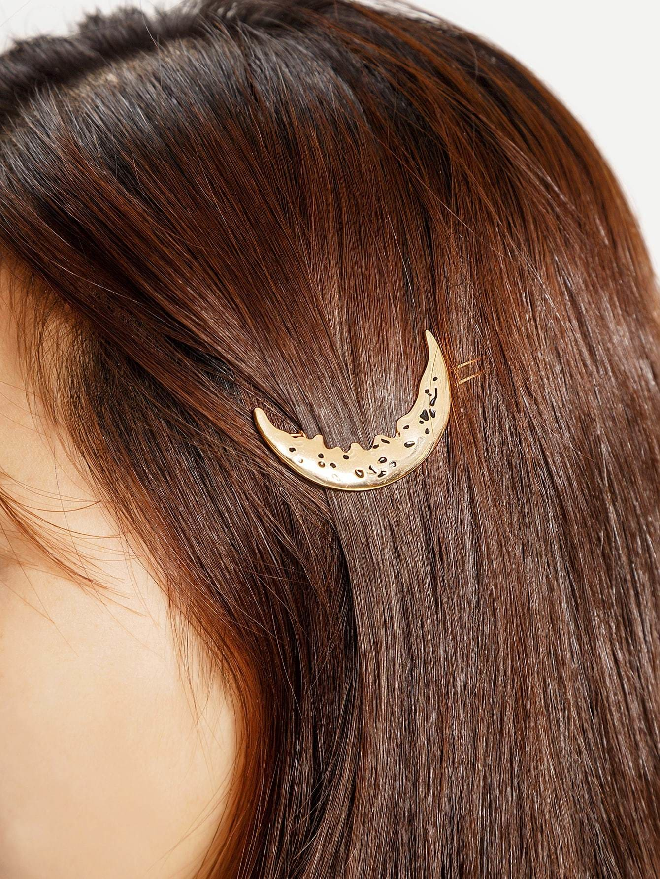 Moon Shaped Hairpin - Hair Accessories