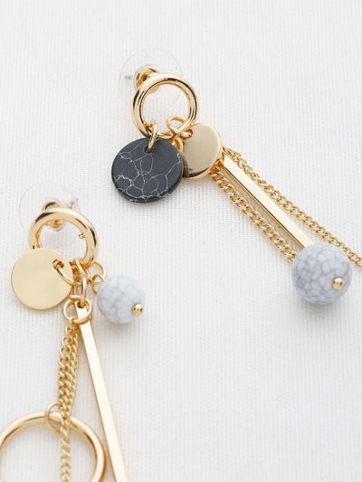 Multi Charm Drop Earrings - Earrings