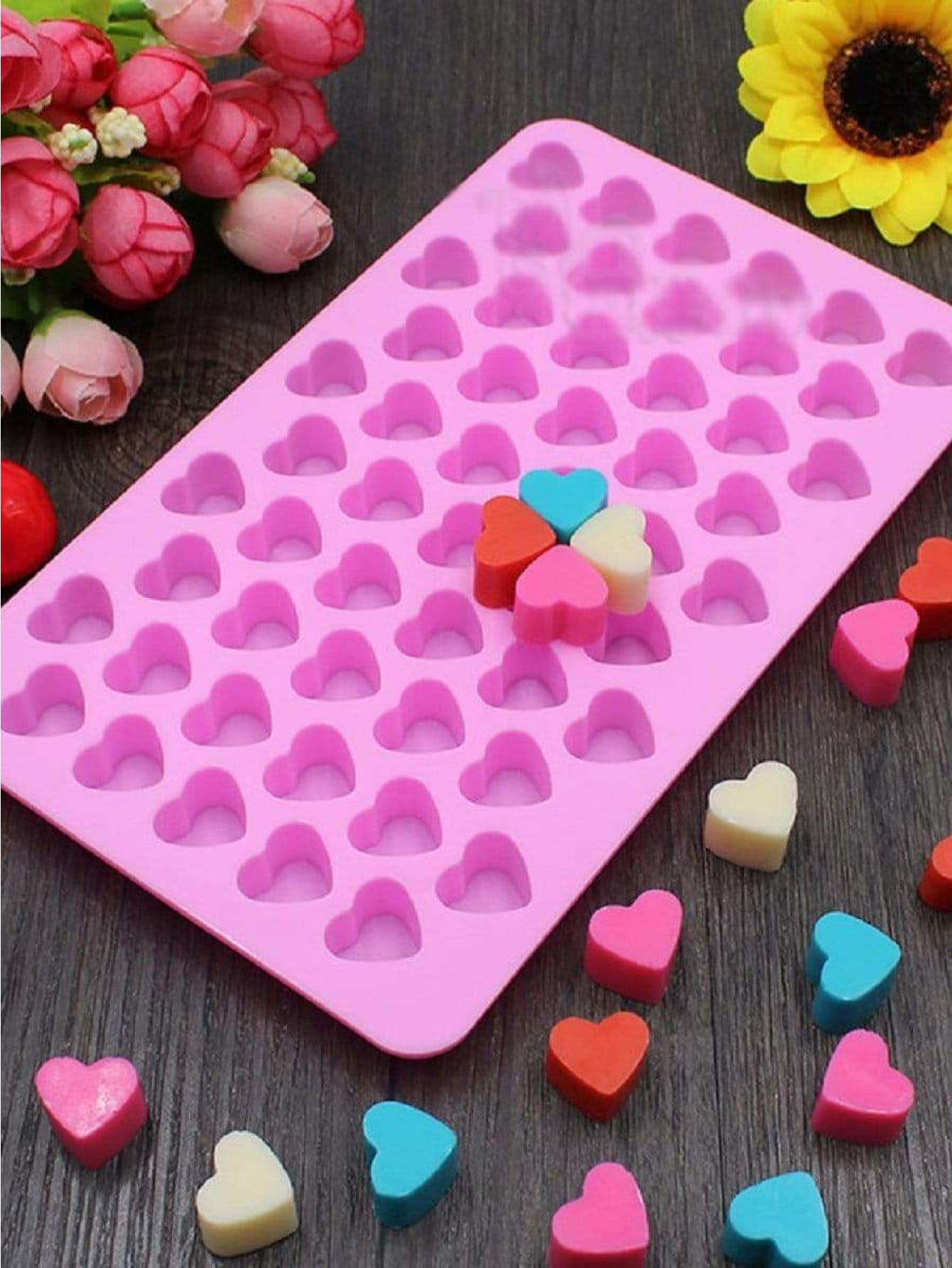Multi Compartment Heart Baking Mold 1pc