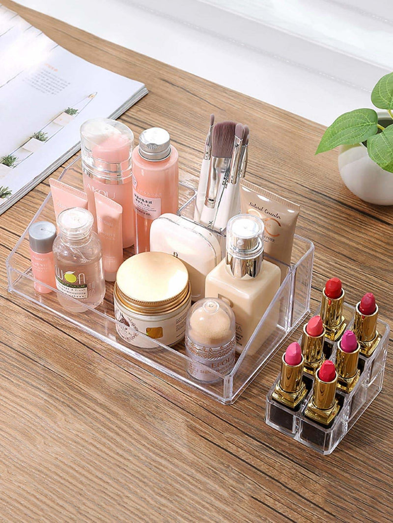 Multi-grid Clear Cosmetic Storage Rack - Storage & Organization