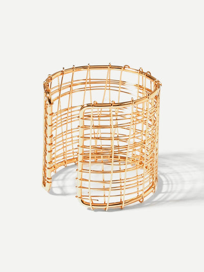 Multi Layered Hollow Cuff Festival Bracelet - Bracelets