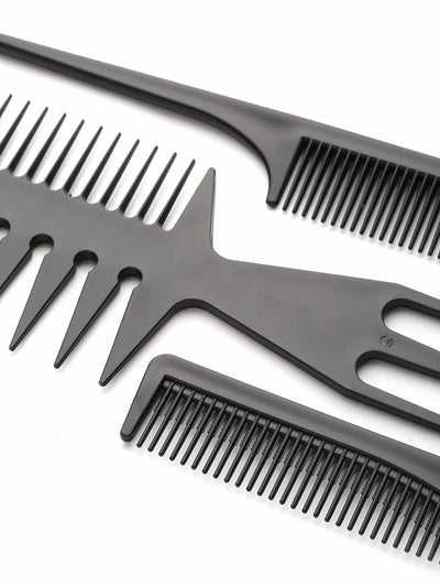 Multi Shaped Hair Comb Set 10Pcs - Personal Care