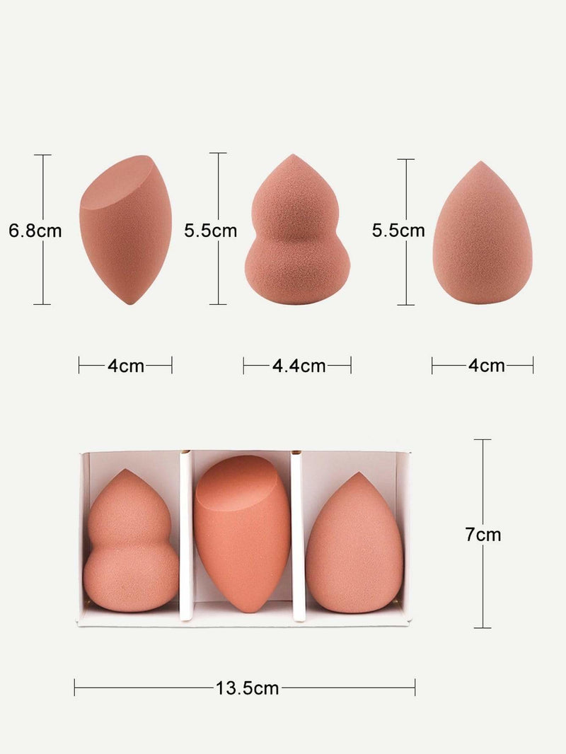 Multi Shaped Makeup Puff 3pcs