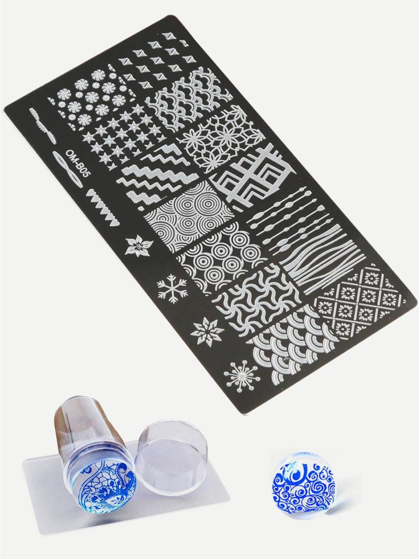 Nail Art Stamping Scraper Plate Tool Set 3Pack - Beauty Tools