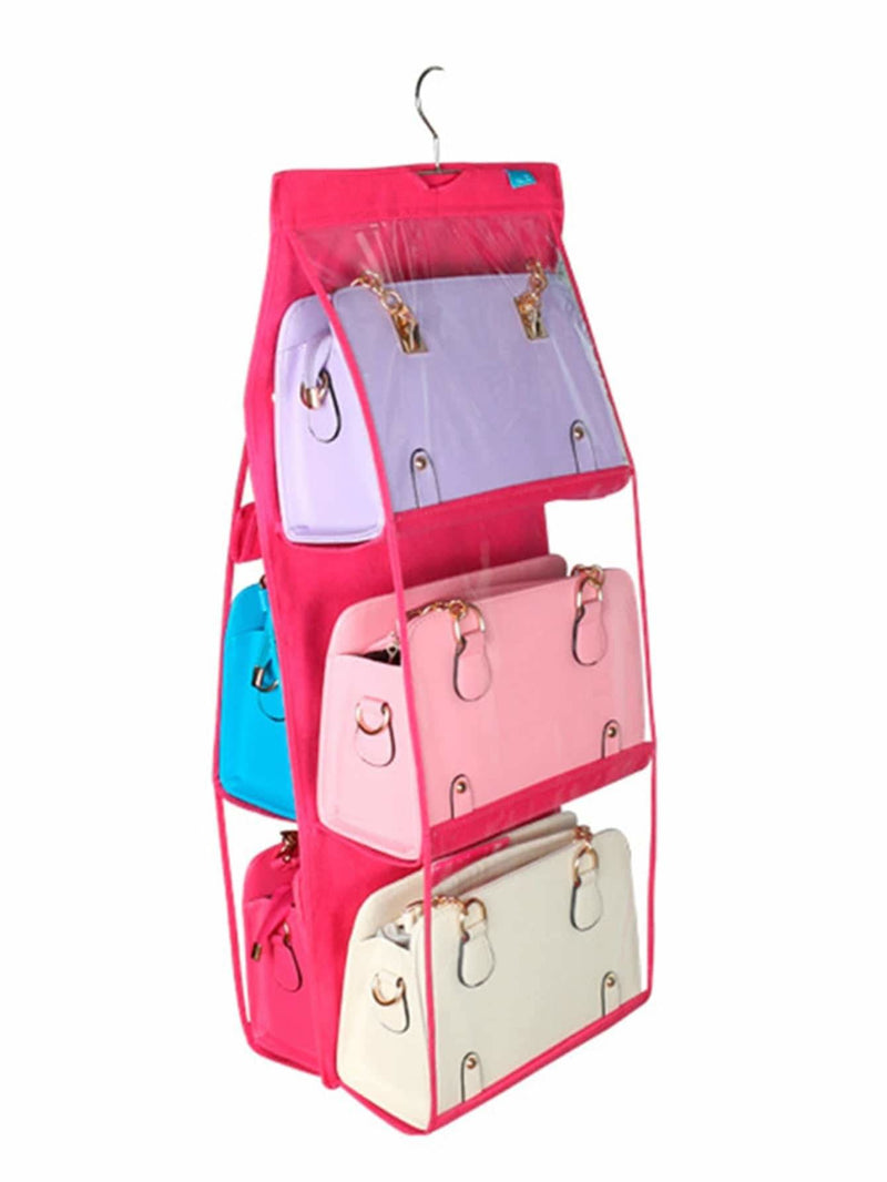 Neon Pink Double Sided Clear Hanger Storage Bag - Storage & Organization