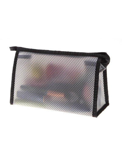 Net Zipper Makeup Bag - Makeup Bags