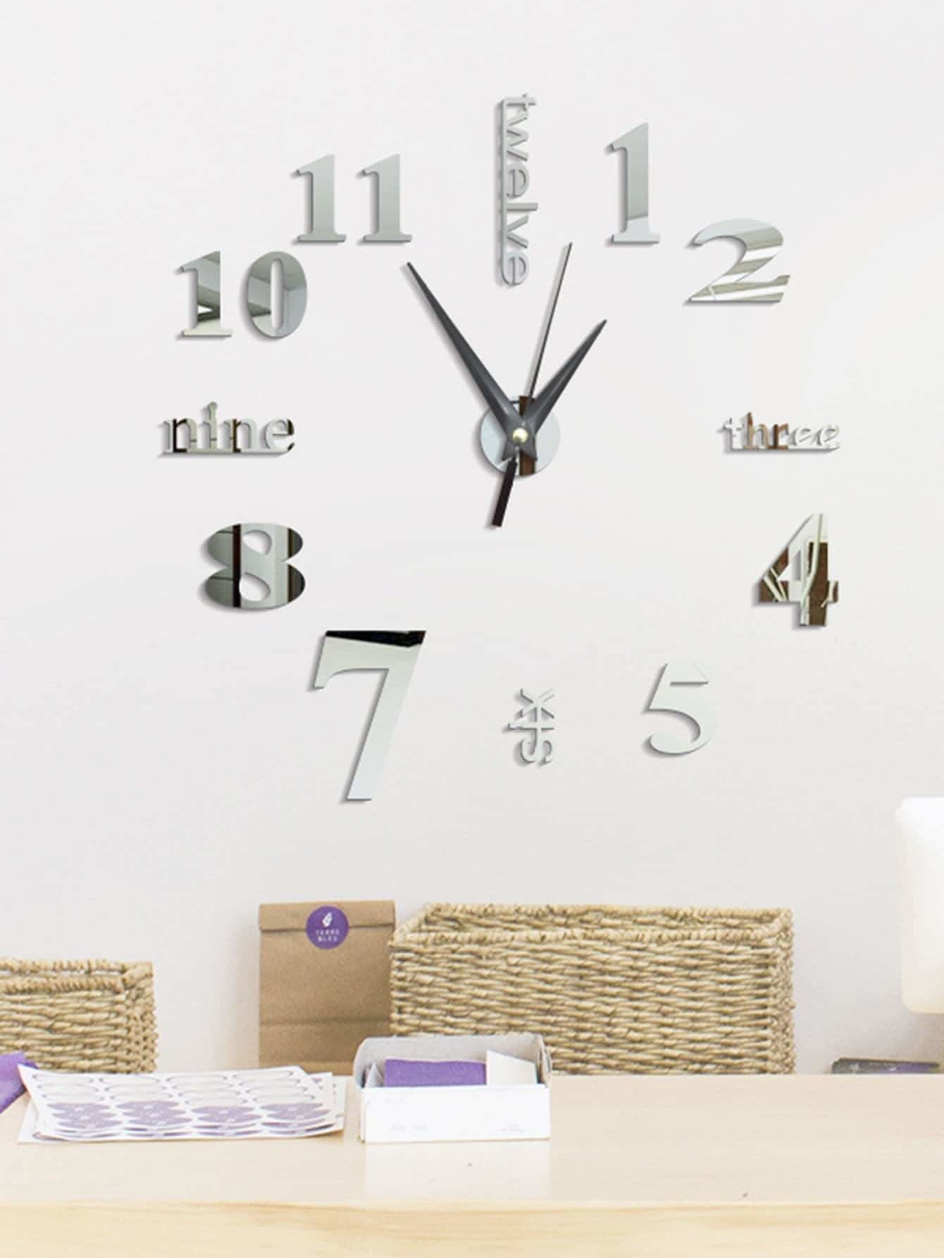 Numbers Wall Clock - Wall Art