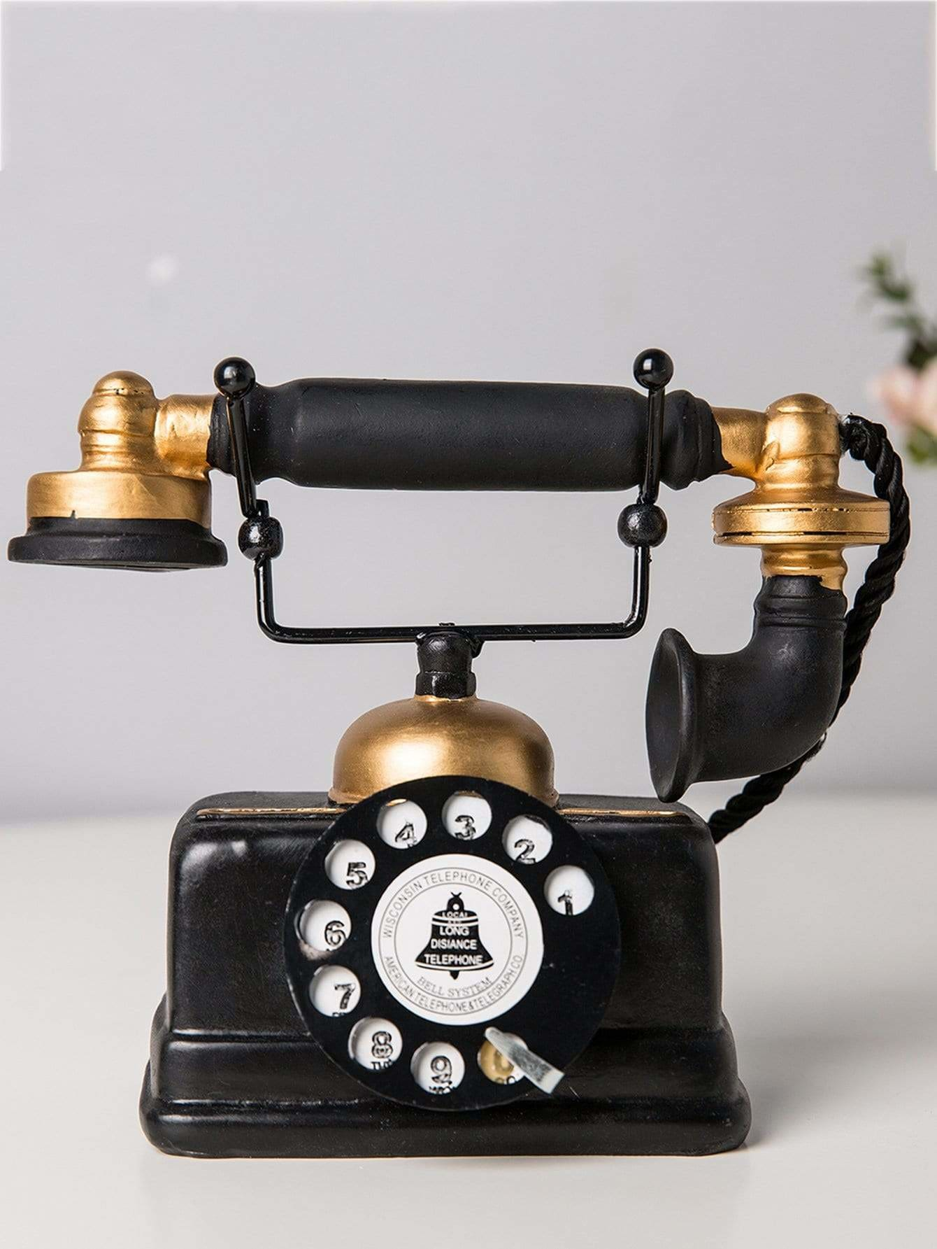Old Telephone Decorative Object