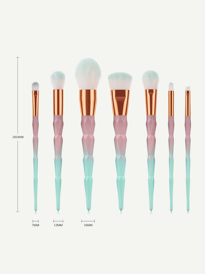 Ombre Handle Soft Makeup Brushes 7Pcs - Makeup Brushes