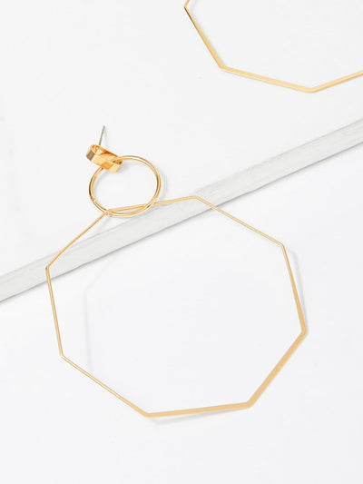 Open Geometric Drop Earrings - Earrings