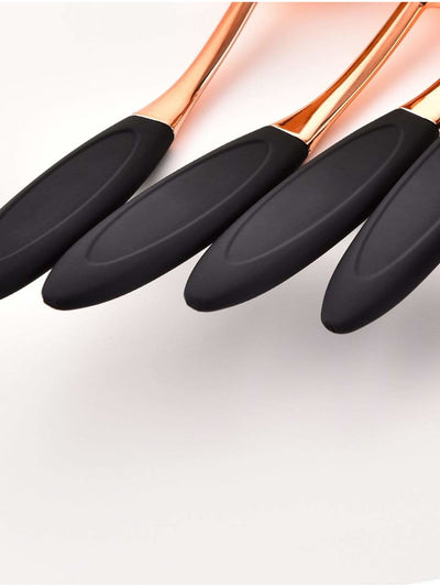 Oval Toothbrush Shaped Makeup Brush 10Pcs - Makeup Brushes