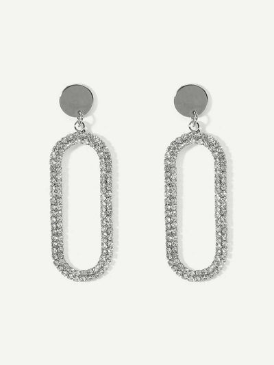 Oval Tube Drop Earrings - Earrings