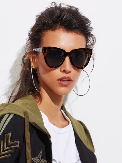Oversized Cat Eye Sunglasses - Sunglasses