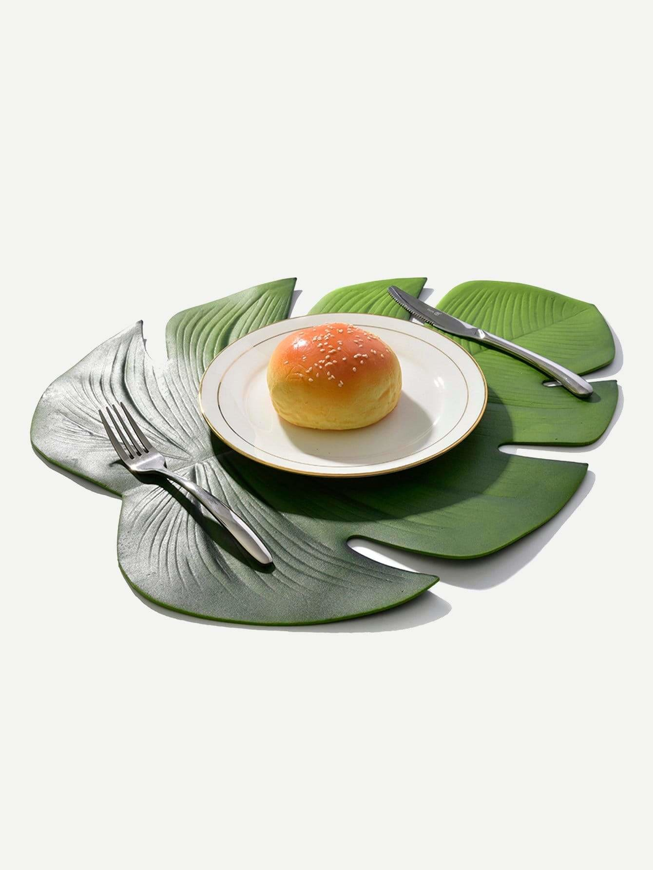 Palm Leaf Shaped Placemat 1Pc - One-Size / One Color - Dining