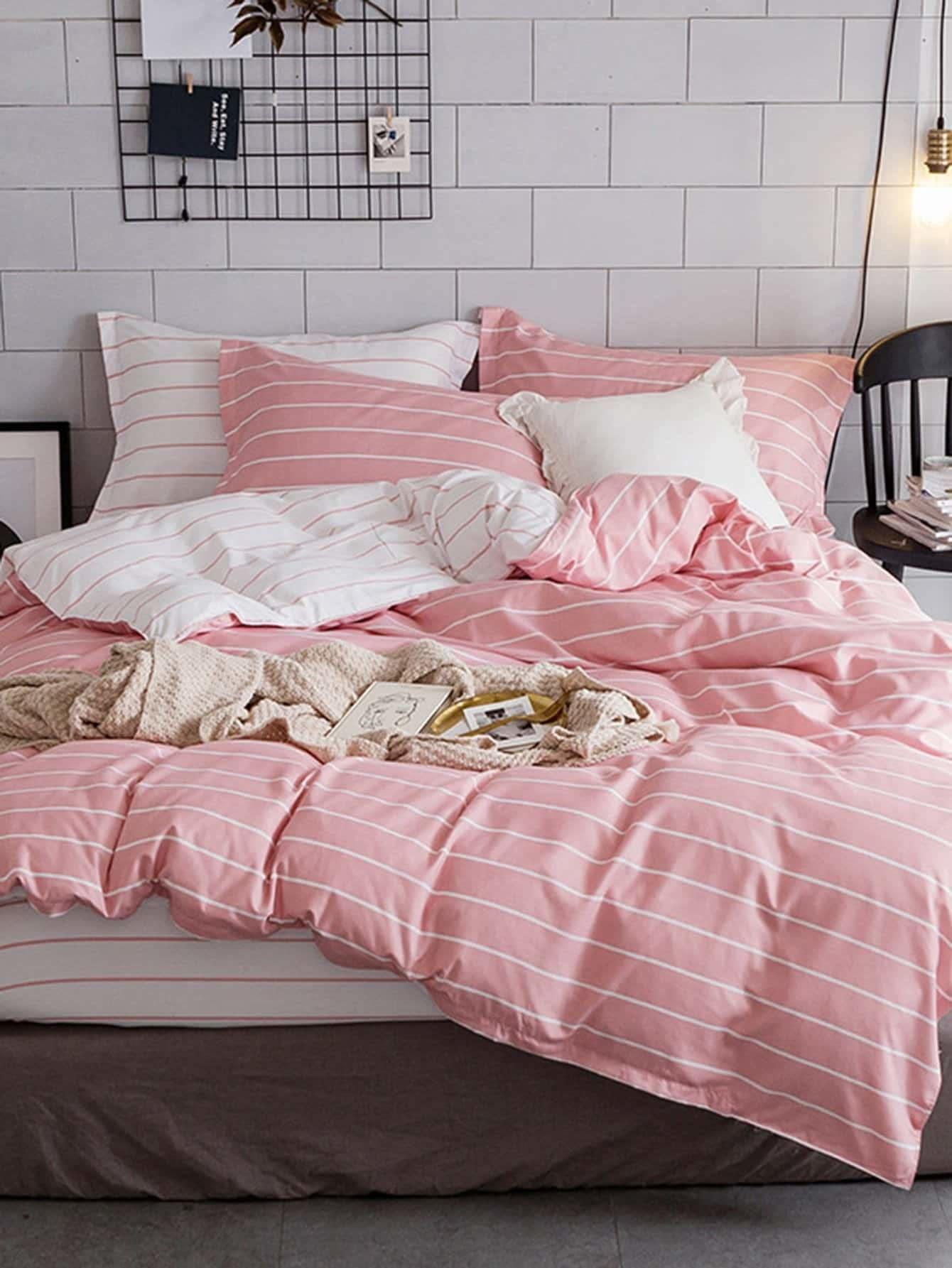 Pencil Striped Duvet Cover Set - Bedding Sets