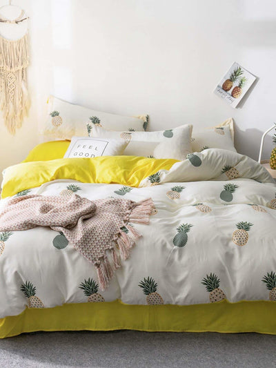 Pineapple Print Sheet Set - Bedding Sets