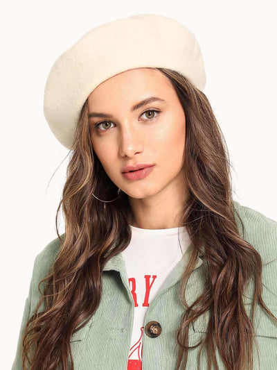 Plain Beret Cap - Hats & Gloves