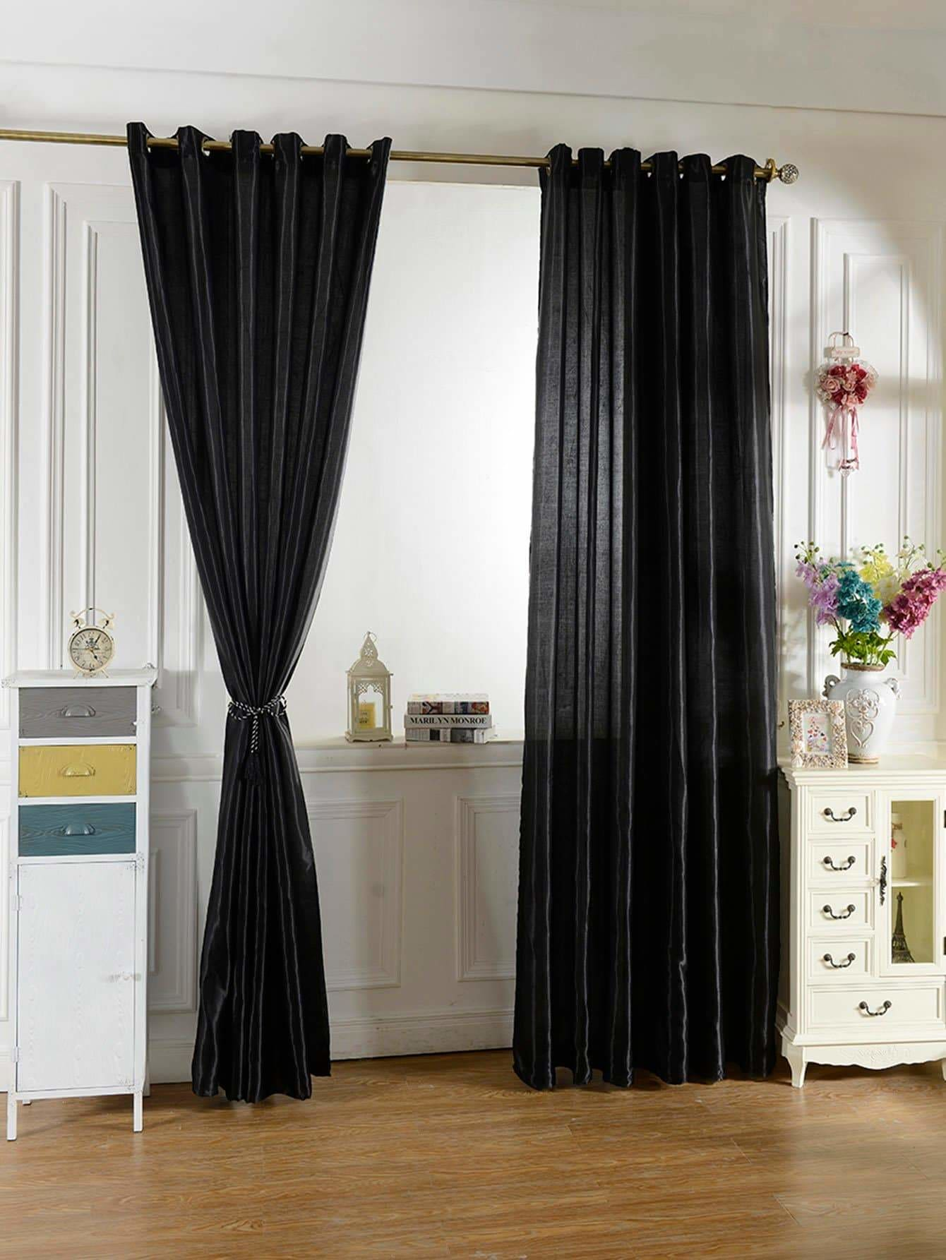 Plain Eyelet Curtain 1pc - Curtains