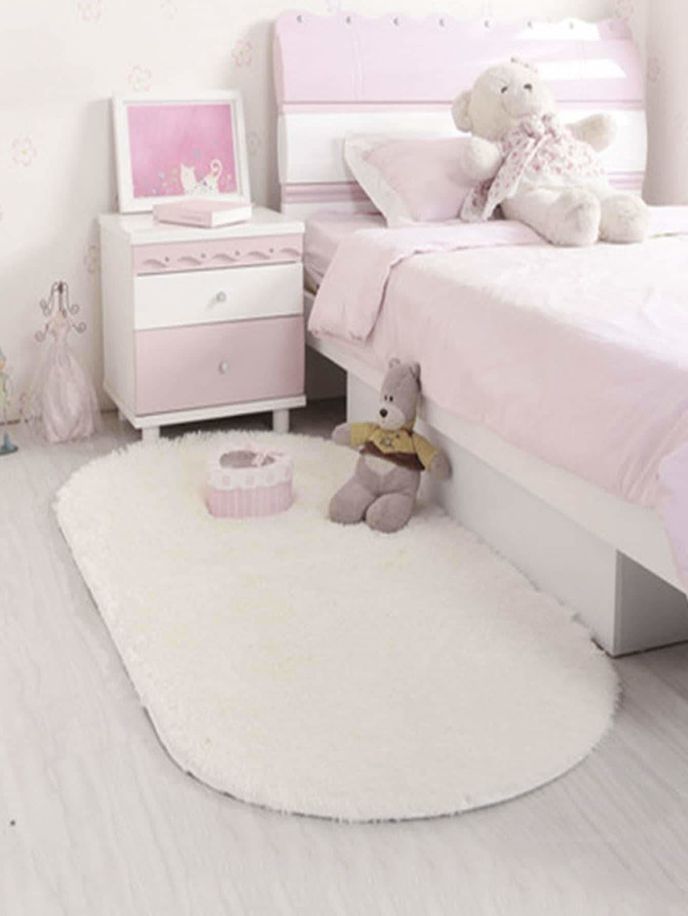 Plain Fluffy Floor Mat - Rugs & Mats