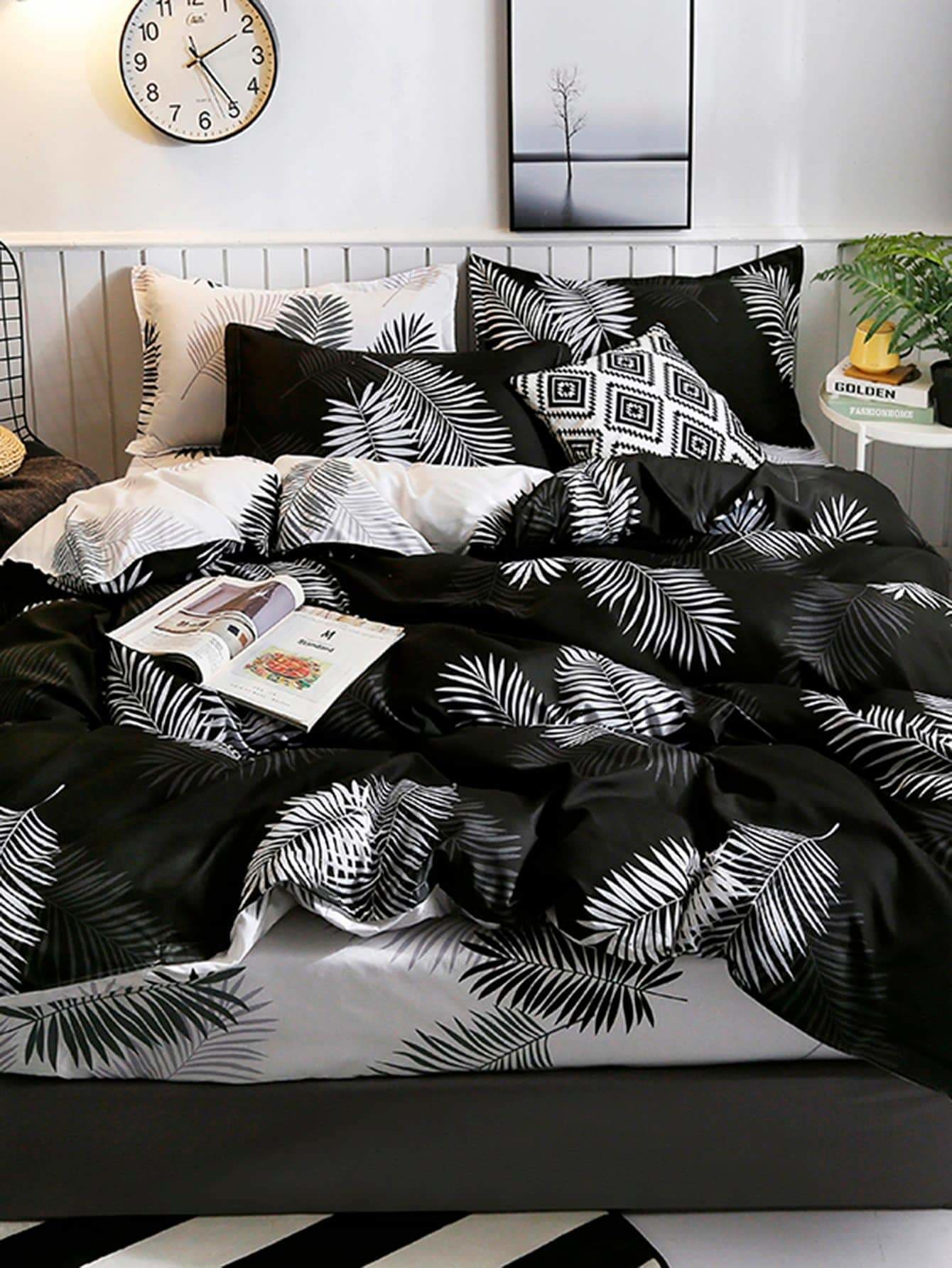 Plant Print Sheet Set - Bedding Sets