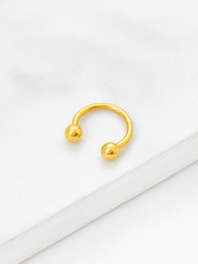 Plated Smooth Nose Ring Body Jewelry - Body Jewelry