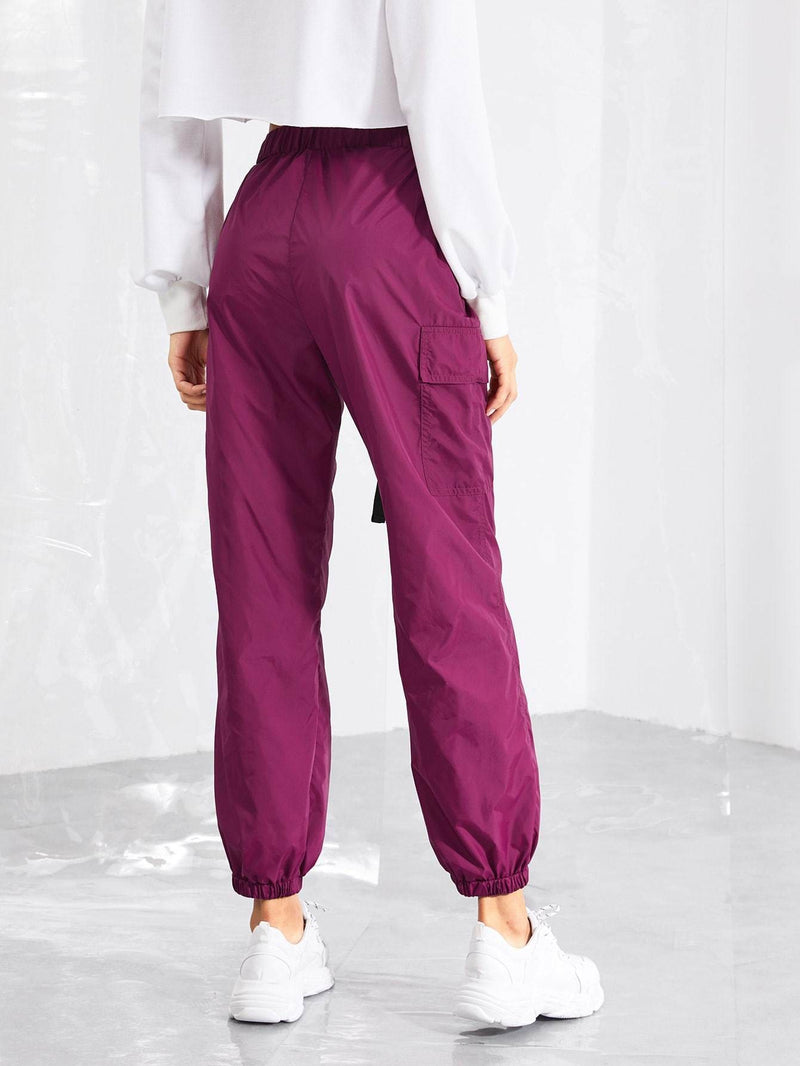 Pocket Side Drawstring Waist Pants - Fittness Leggings