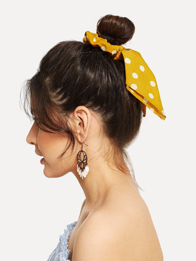Polka Dot Hair Tie - Hair Accessories
