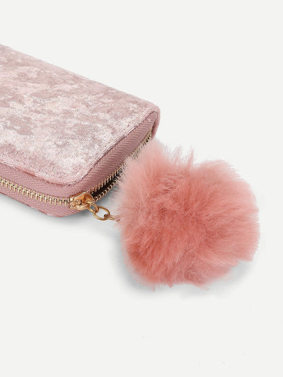 Pom Pom Detail Purse Bag - Womens Bag