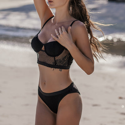 Sexy Hollow Out Push Up Mesh Bikini