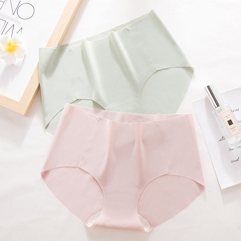Pink Cotton Mid Waist Panties