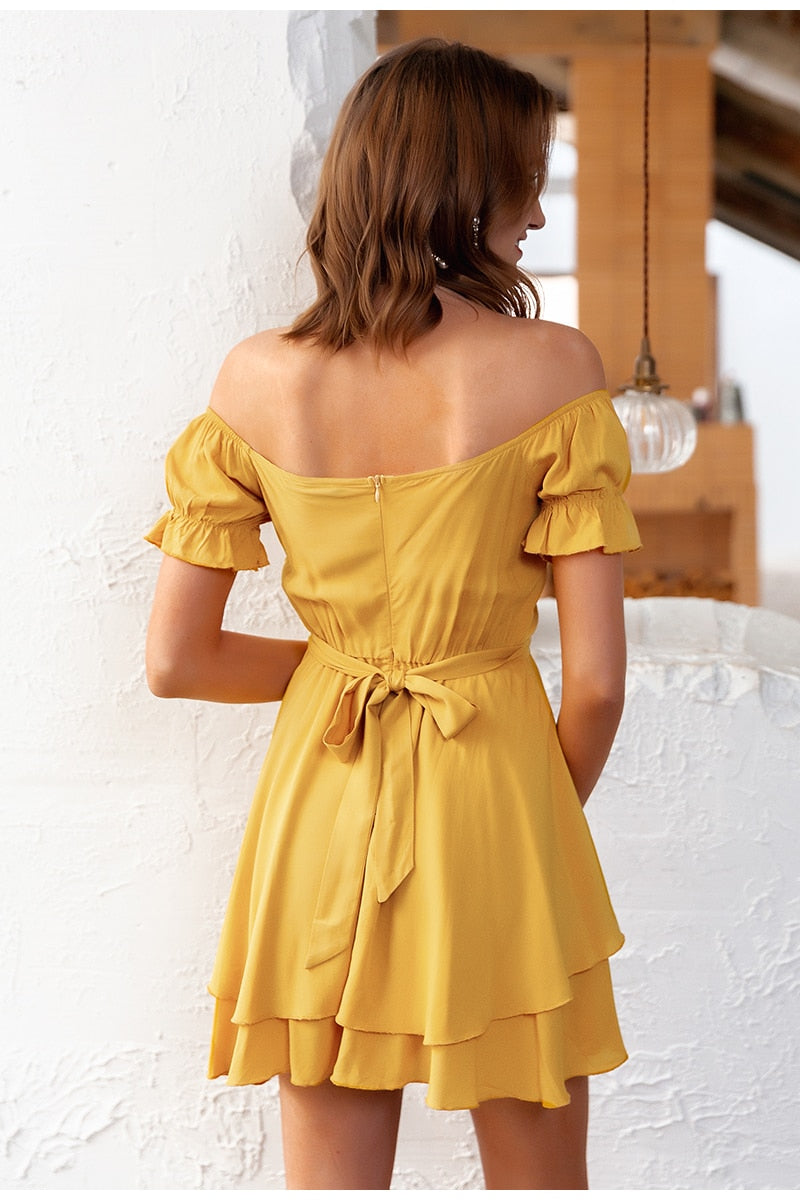 V Neck Summer Off Shoulder Ruffle Romper