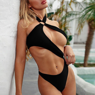 Extreme Hollow Out High Cut Brazilian Monokini