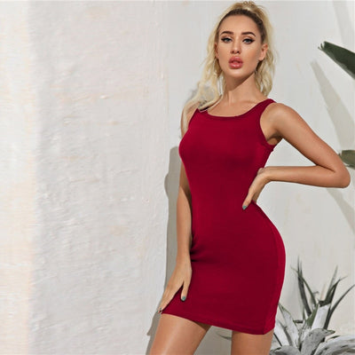 Bodycon Sleeveless Tank Day Mini Dress