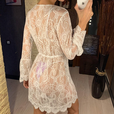 White Lace Tunic Beach Cover Up