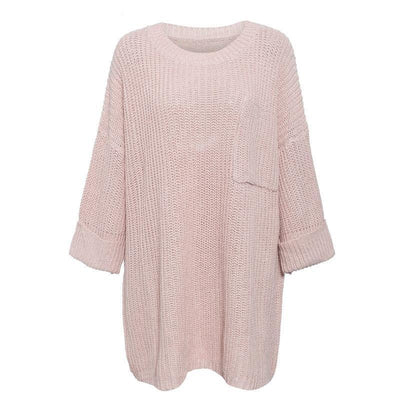 Knitted Loose Style Long Pullover