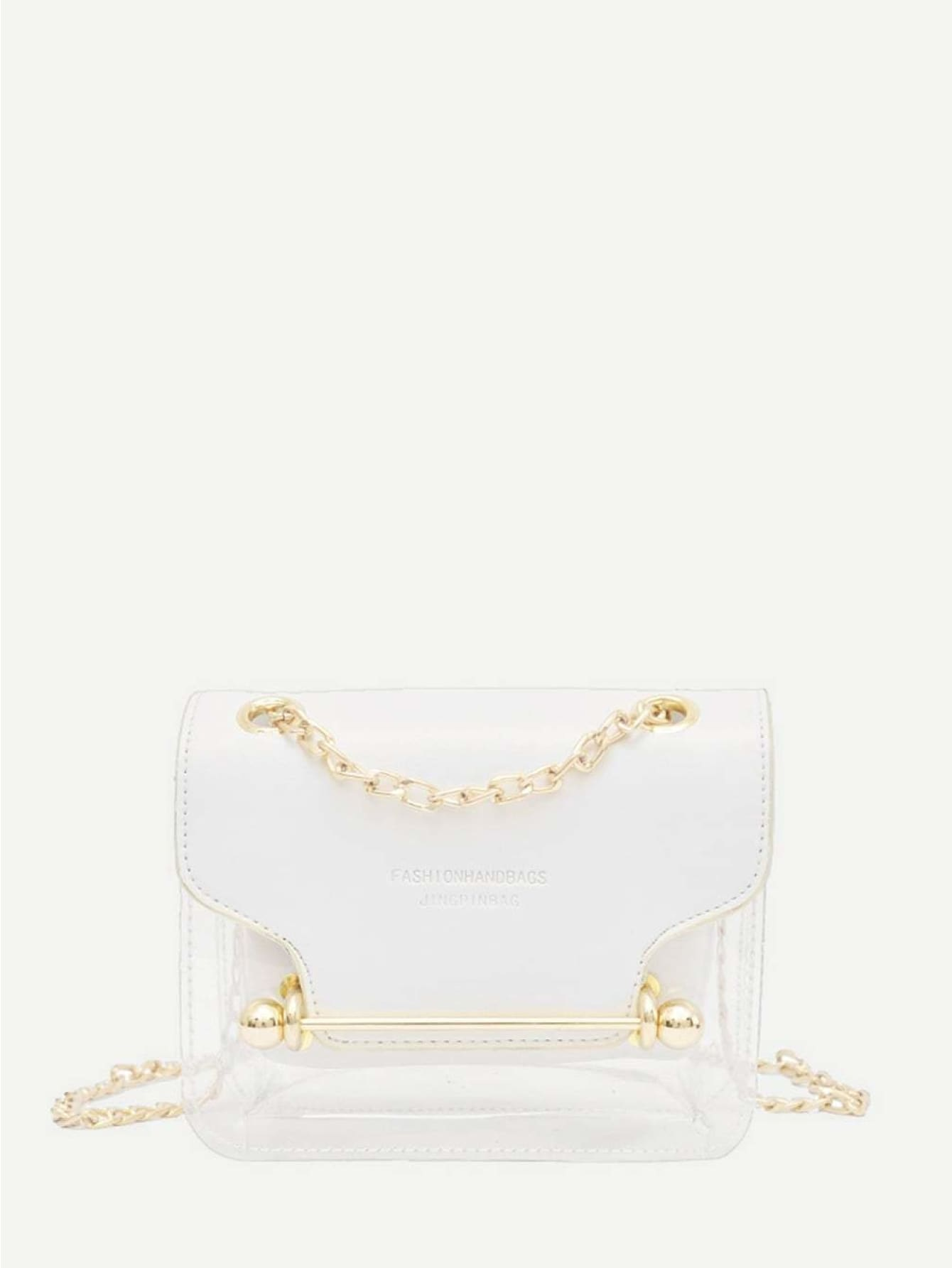PU Chain Bag With Inner Pouch - Womens Bag