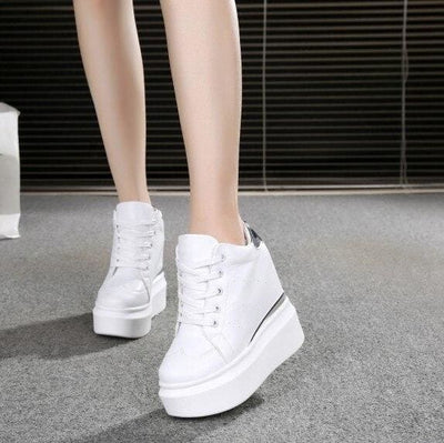 PU Leather Platform Sneakers - as picture 3 / 4 - Womens Sneakers